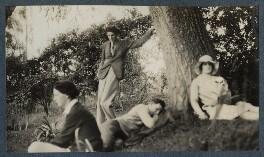 Bob Gathorne-Hardy; Kyrle Leng; Siegfried Sassoon; Julian Vinogradoff (née Morrell), by Lady Ottoline Morrell - NPG Ax142617