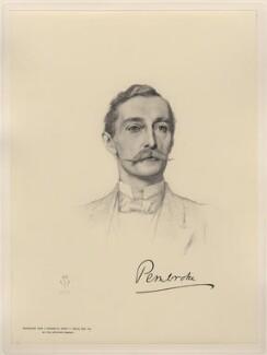 Sidney Herbert, 14th Earl of Pembroke, 11th Earl of Montgomery, after Henry Tanworth Wells - NPG D20747