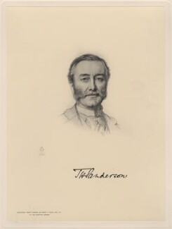 Thomas Henry Sanderson, 1st Baron Sanderson, by The Autotype Company, after  Henry Tanworth Wells - NPG D20749