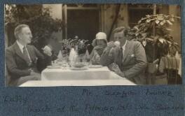 Philip Edward Morrell; Julian Vinogradoff (née Morrell); Siegfried Loraine Sassoon, by Lady Ottoline Morrell - NPG Ax142678