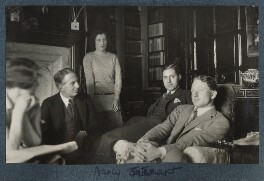 Julian and Philip Morrell with friends at Garsington, by Lady Ottoline Morrell - NPG Ax142781