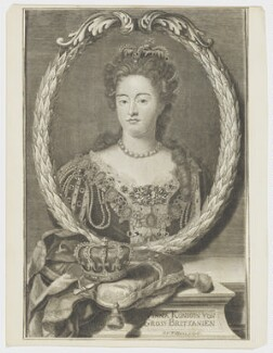 Queen Anne, by Johann Georg Wolfgang, after  Sir Godfrey Kneller, Bt - NPG D21272