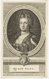 Queen Anne, by Michael Vandergucht, after  Charles Boit - NPG D21270
