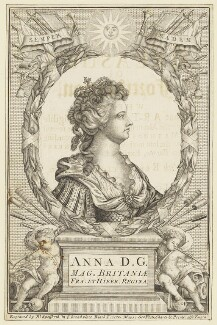 Queen Anne, by Robert Spofforth, after  John Croker, circa 1707 - NPG D21276 - © National Portrait Gallery, London