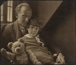 A.A. Milne; Christopher Robin Milne, by Howard Coster, 1926 - NPG P715 - © National Portrait Gallery, London