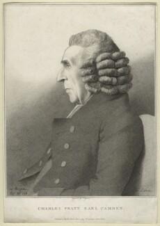 Charles Pratt, 1st Earl Camden, by John Ogborne, after  George Dance - NPG D21278