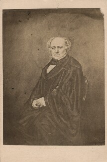 Richard Bethell, 1st Baron Westbury, after an engraving by Daniel John Pound, after  John Jabez Edwin Mayall - NPG Ax5063