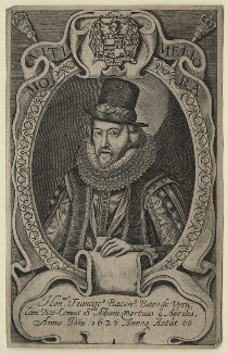 Francis Bacon, 1st Viscount St Alban, after Simon de Passe, after 1626 - NPG D21284 - © National Portrait Gallery, London