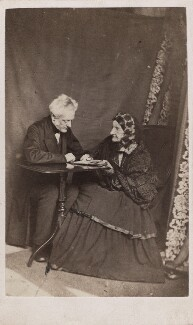 (William) Charles Henry; Miss Bayley, by Unknown photographer - NPG Ax5057