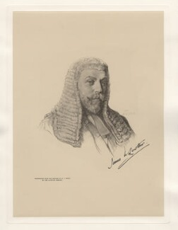 James William Lowther, 1st Viscount Ullswater, after Henry John Stock - NPG D20789