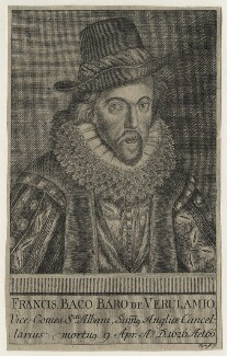 Francis Bacon, 1st Viscount St Alban, probably by Martin Tyroff, after  Simon de Passe - NPG D21287