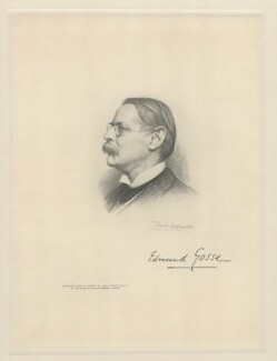 Sir Edmund William Gosse, by The Autotype Company, after  Frank Dicksee - NPG D20806