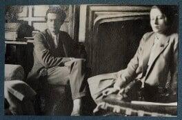 Aldous Huxley; Maria Huxley (née Nys), by Lady Ottoline Morrell - NPG Ax142790