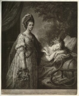 Charlotte of Mecklenburg-Strelitz, by Thomas Burke, after  Angelica Kauffmann - NPG D21301