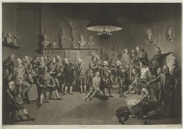 The Academicians of the Royal Academy, by Richard Earlom, after  Johan Joseph Zoffany - NPG D21304