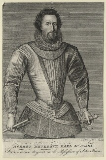 Robert Devereux, 2nd Earl of Essex, by John Ogborne, after  Marcus Gheeraerts the Younger - NPG D21312