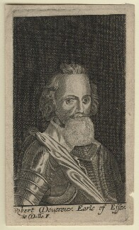 Robert Devereux, 2nd Earl of Essex, by Walter Dolle, after  Magdalena de Passe, after  Willem de Passe - NPG D21318