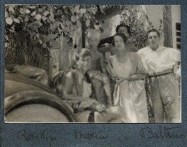 Rose Nys; Matthew Huxley; Maria Huxley (née Nys); Aldous Huxley; Georges-Marie Baltus, by Lady Ottoline Morrell - NPG Ax142901