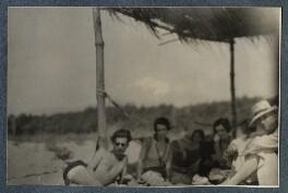 Aldous Huxley; Maria Huxley (née Nys); Baroness Franchitti; Philip Edward Morrell, by Lady Ottoline Morrell - NPG Ax142902