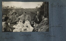 Lady Ottoline Morrell with friends, possibly by Philip Edward Morrell, 1927 - NPG Ax142903 - © National Portrait Gallery, London