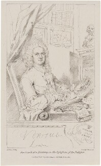 George Vertue, by Maxim Gauci, printed by  Charles Joseph Hullmandel, published by  Anthony Molteno, after  George Vertue - NPG D21325