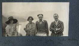 Lady Ottoline Morrell; Cynthia Noble; Leopold Hamilton Myers; L.P. Hartley, possibly by Philip Edward Morrell - NPG Ax142905