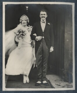 The Wedding of Julian Morrell and Victor Goodman, by Unknown photographer, 24 January 1928 - NPG Ax142917 - © National Portrait Gallery, London