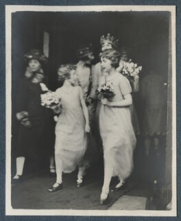 'Bridesmaids' (The Wedding of Julian Morrell and Victor Goodman), by Unknown photographer - NPG Ax142919