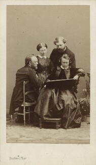 Rosa Bonheur with three unknown sitters, by Disdéri - NPG Ax17189