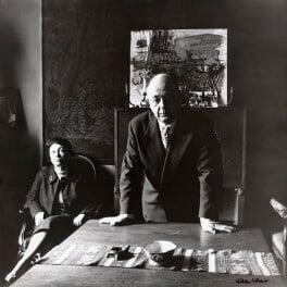 Rodica Ionesco (née Burileanu); Eugène Ionesco, by Ida Kar - NPG x127779