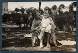 Julian Vinogradoff (née Morrell) with her daughter Anne Arianna Gallon (née Goodman), by Lady Ottoline Morrell - NPG Ax142981