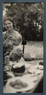 Rosamond Nina Lehmann with her son Hugo John Laurence Philipps, 3rd Baron Milford, by Lady Ottoline Morrell - NPG Ax143153