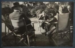 Gilbert Spencer; Lord Henry Cavendish-Bentinck; Duncan Grant; Raymond Mortimer; Philip Edward Morrell, by Lady Ottoline Morrell - NPG Ax143169