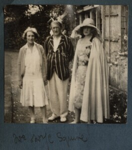 Eileen Harriett (née Anstruther Wilkinson), Lady Squire; Sir John Collings Squire; Lady Ottoline Morrell, by Philip Edward Morrell, 1930 - NPG Ax143170 - © National Portrait Gallery, London