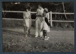 Lady Ottoline Morrell; Aldous Huxley; Maria Huxley (née Nys); Matthew Huxley, possibly by Philip Edward Morrell - NPG Ax143185
