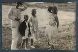 Aldous Huxley; Matthew Huxley; Maria Huxley (née Nys); Lady Ottoline Morrell, possibly by Philip Edward Morrell - NPG Ax143187