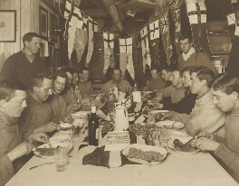 Captain Scott's Birthday Dinner, 6 June 1911, by Herbert George Ponting, 6 June 1911 - NPG P1100 - © National Portrait Gallery, London