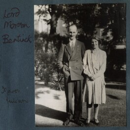 Lord Francis Morven Dallas Cavendish-Bentinck; Julian Vinogradoff (née Morrell), by Lady Ottoline Morrell - NPG Ax143206
