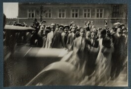 'Crowds in Piazza Venezia, Rome', possibly by Lady Ottoline Morrell - NPG Ax143263