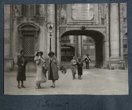 Lady Ottoline Morrell and two others, by Unknown photographer - NPG Ax143269