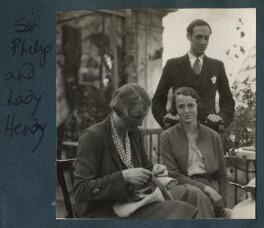 Kythé Caroline Hendy (née Ogilvy) and her sister; Sir Philip Hendy, by Unknown photographer - NPG Ax143280