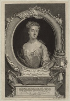 Frances Carteret (née Worsley), Lady Carteret, by George Vertue, after  Sir Godfrey Kneller, Bt - NPG D21349