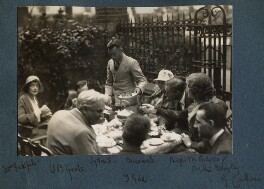 Lady Ottoline Morrell with friends, possibly by Philip Edward Morrell - NPG Ax143288
