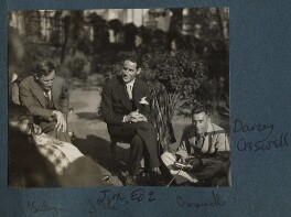 Arthur David Waley; Jim Ede; Walter D'Arcy Cresswell, by Lady Ottoline Morrell, late 1930 - NPG Ax143290 - © National Portrait Gallery, London