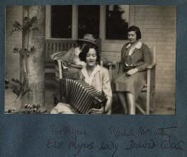 Eveleen ('Eve') Clarke (née Myers); Rachel (née MacCarthy), Lady David Cecil, by Lady Ottoline Morrell - NPG Ax143293