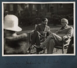 What can we talk about (Lytton Strachey; W.B. Yeats), by Lady Ottoline Morrell - NPG Ax143304