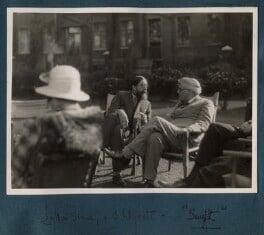 Lytton Strachey; W.B. Yeats, by Lady Ottoline Morrell - NPG Ax143305