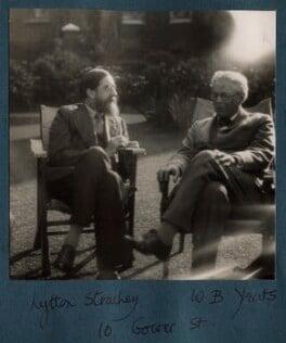 Lytton Strachey; W.B. Yeats, by Lady Ottoline Morrell - NPG Ax143308