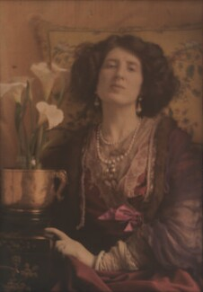Lady Ottoline Morrell, by Baron Adolph de Meyer, circa 1907 - NPG P1099 - © National Portrait Gallery, London