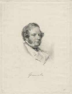 Granville George Leveson-Gower, 2nd Earl Granville, by William Holl Jr, after  George Richmond - NPG D21357